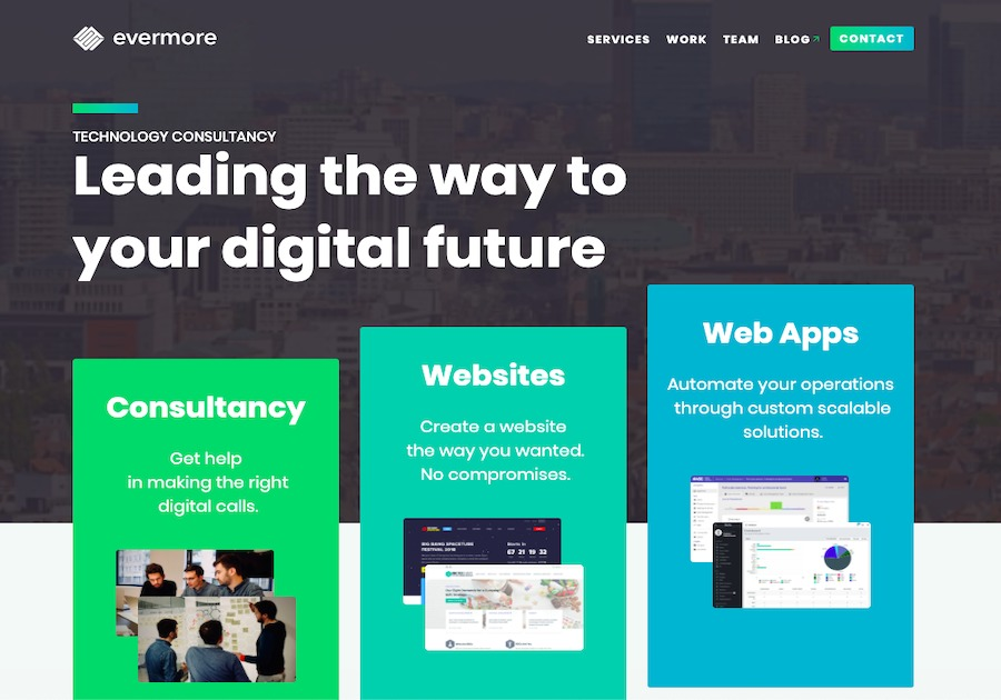 A great web design by Evermore, Sofia, Bulgaria:
