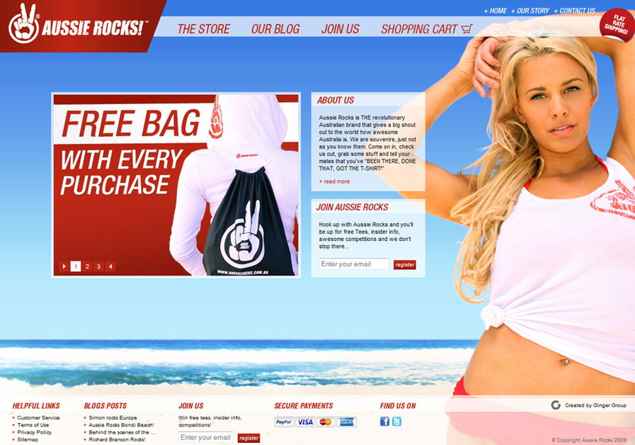 A great web design by Ginger Group, Sydney, Australia: