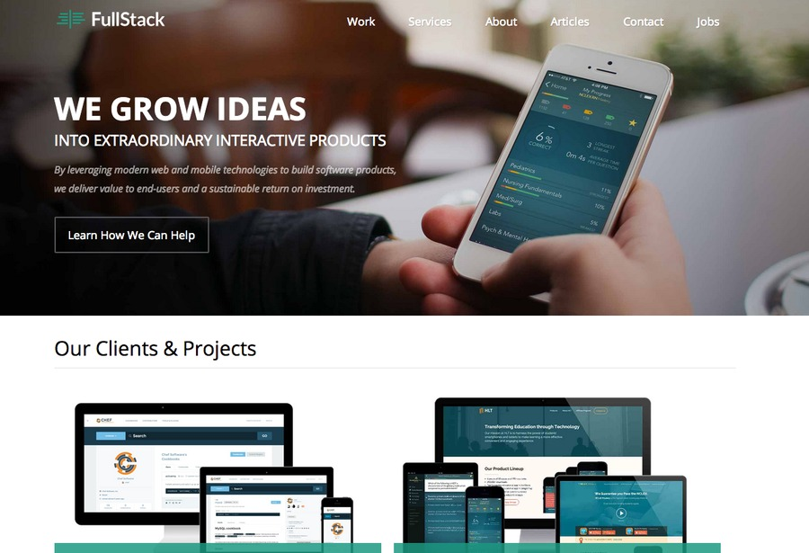 A great web design by FullStack, Denver, CO: Responsive Website, Portfolio , Consulting , Static HTML