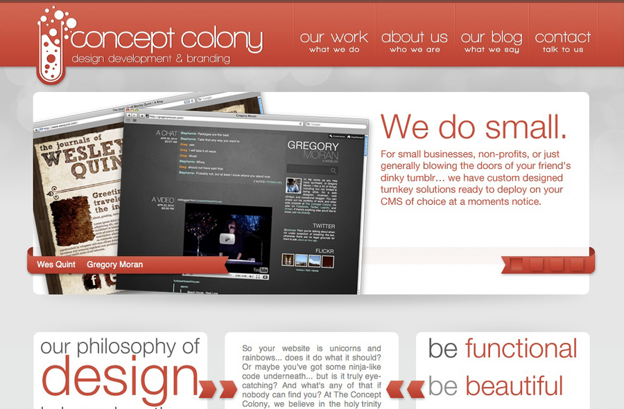 A great web design by The Concept Colony, Dallas, TX: