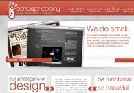 A great web design by The Concept Colony, Dallas, TX:
