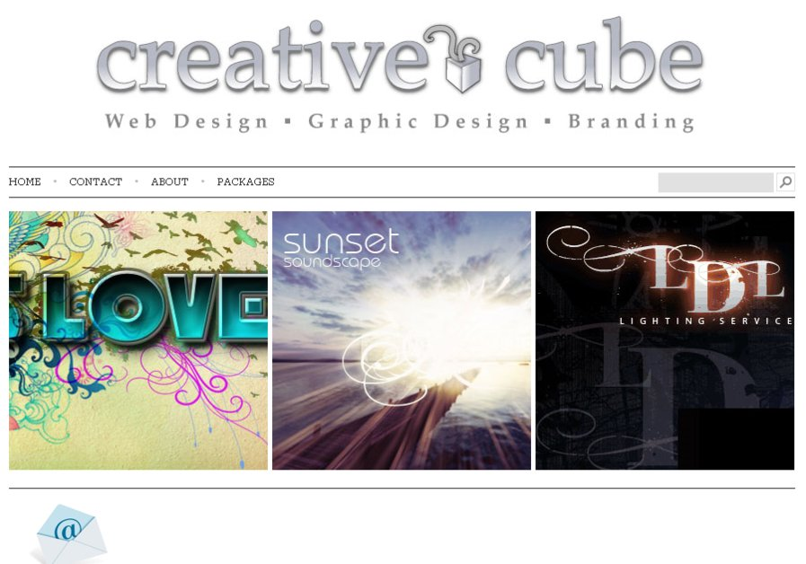 A great web design by Creative Cube, Melbourne, Australia: