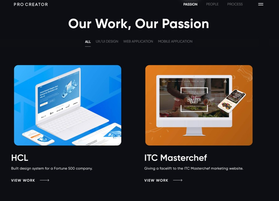 A great web design by ProCreator - UX design Studio, Mumbai, India: