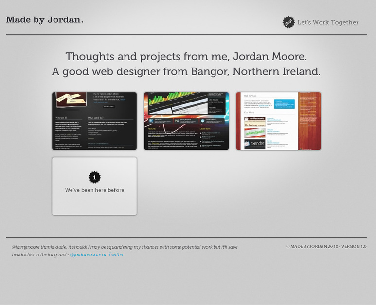 A great web design by Made by Jordan, Belfast, United Kingdom: