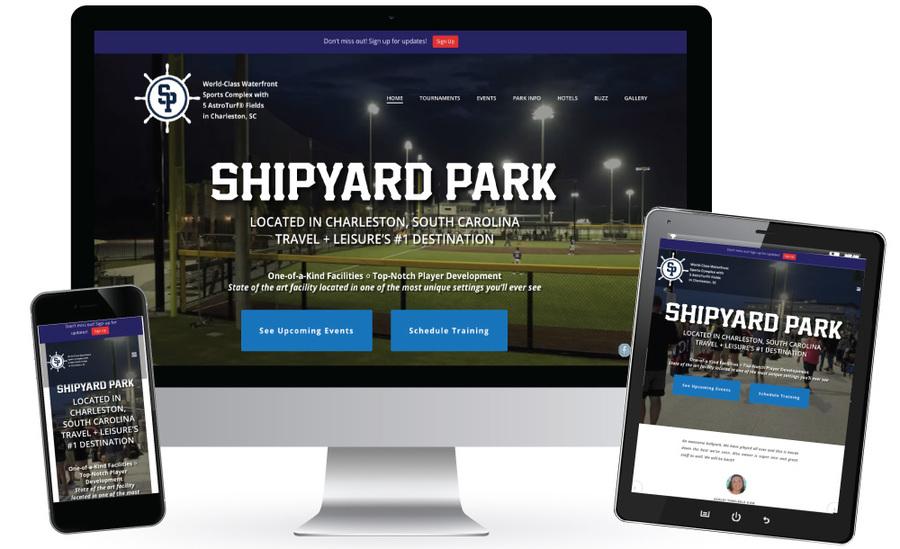 A great web design by Zafari, Inc., Charleston, SC: