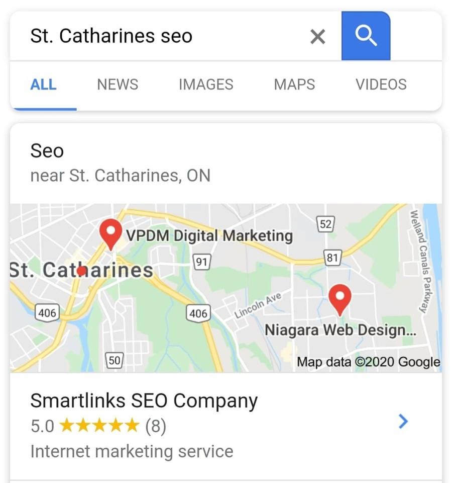 A great web design by Smartlinks SEO Company, Saint Catharines, Canada: