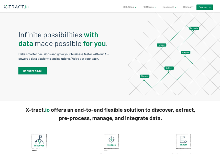 A great web design by Xtract.io, Chennai, India: