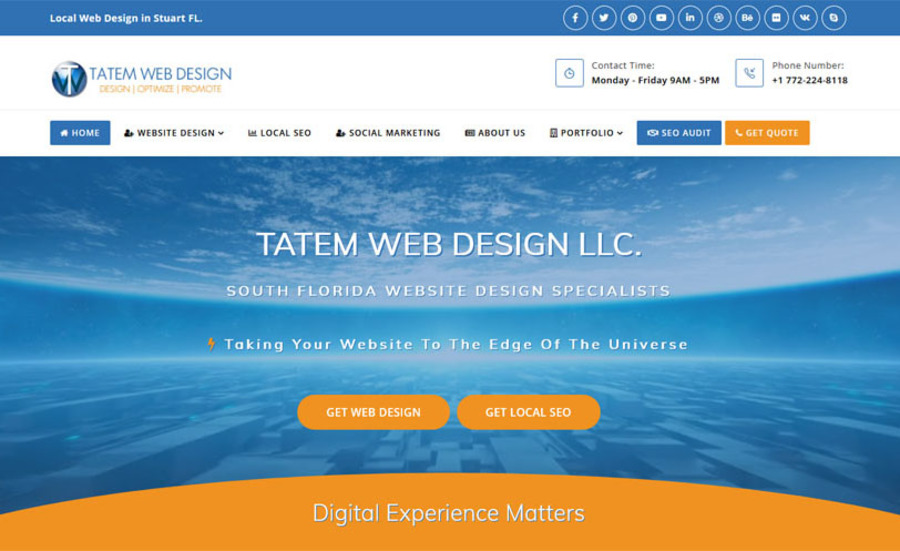 A great web design by Tatem Web Design LLC., Stuart, FL: