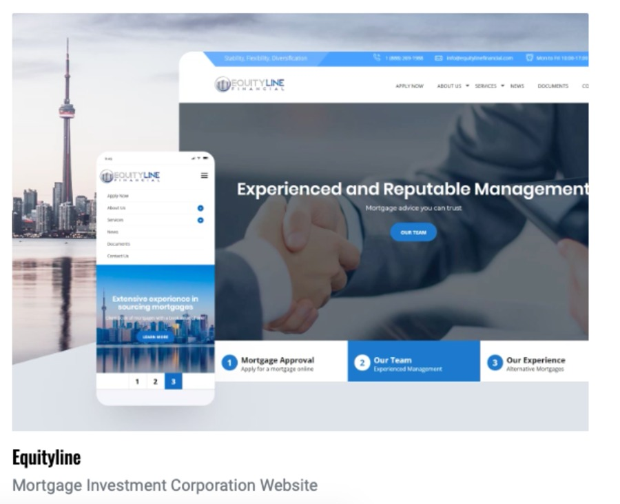A great web design by Concise Studio, Toronto, Canada:
