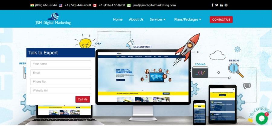 A great web design by JSM Digital Marketing, New Delhi, India: