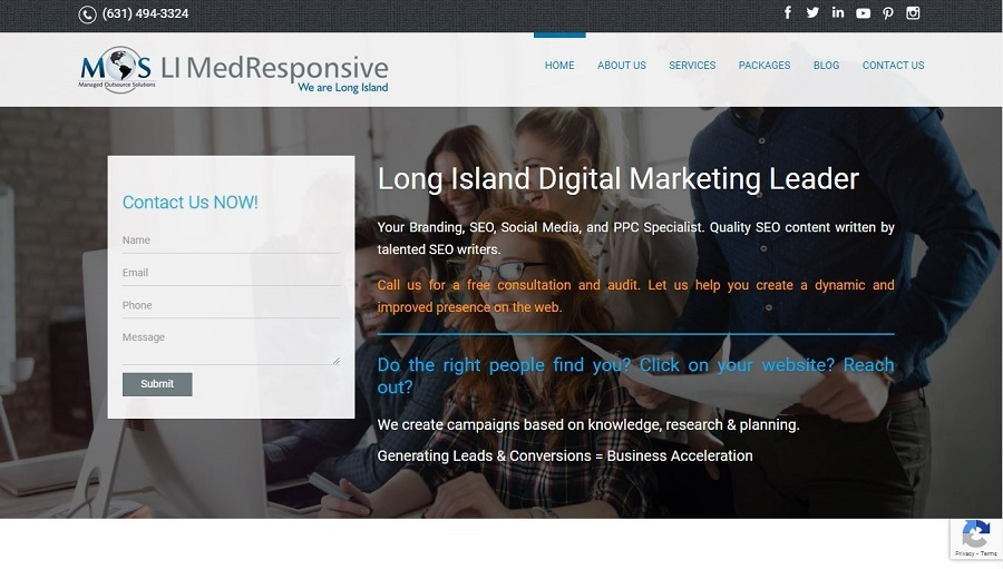 A great web design by Long Island MedResponsive, Melville, NY: