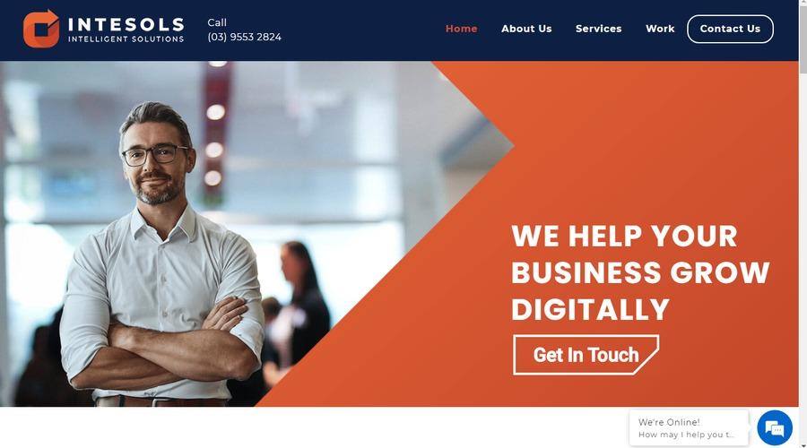A great web design by Intesols, Australian Capital Territory, Australia: