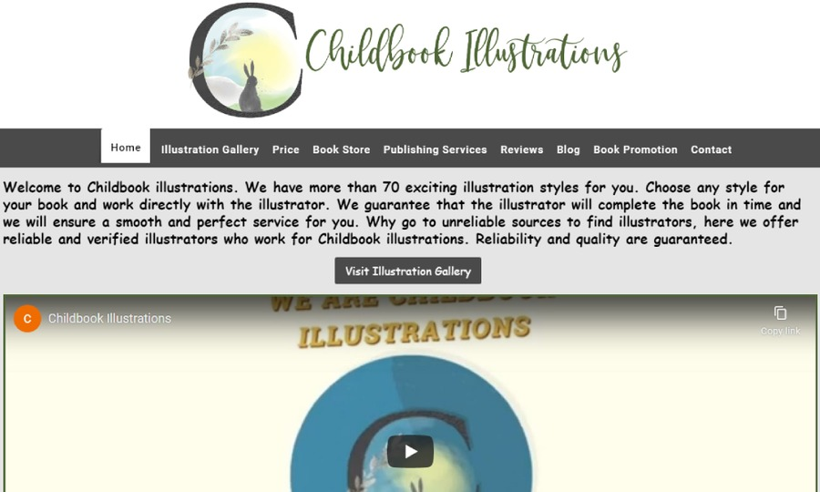 A great web design by Childbook illustrations, York, PA: