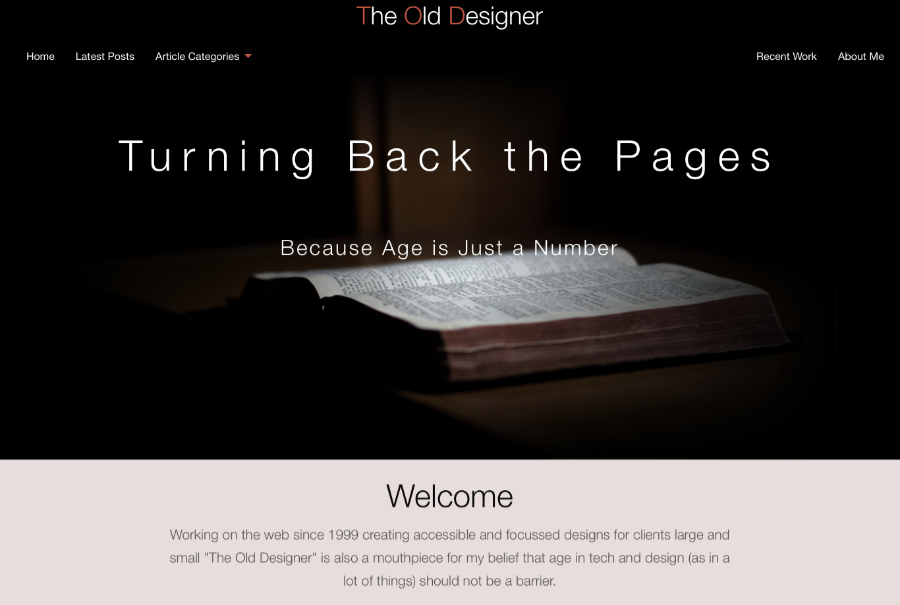 A great web design by The Old Designer, Paphos, Cyprus: