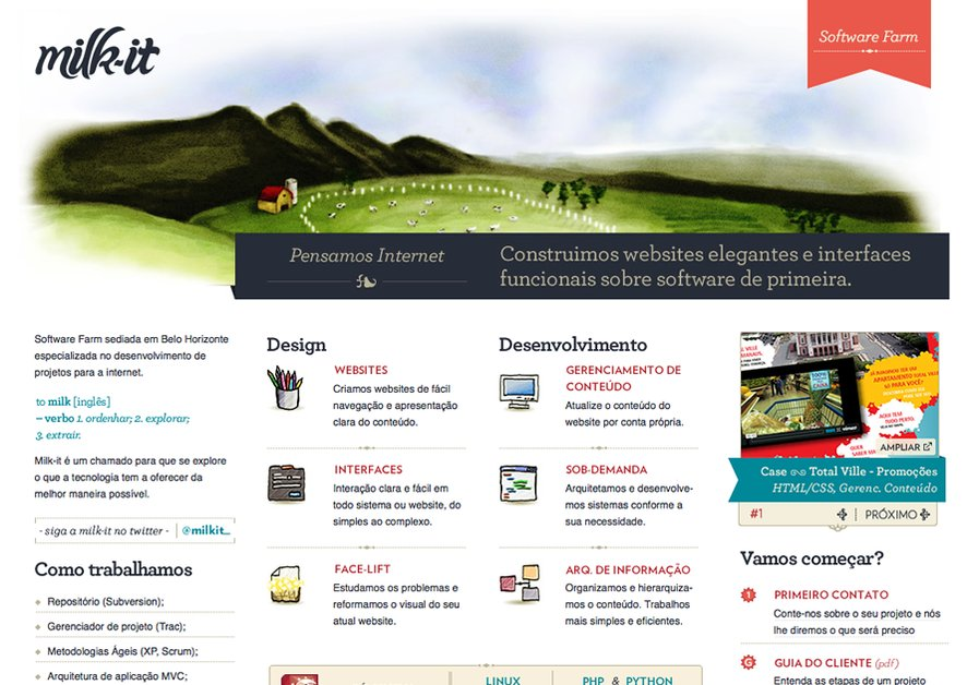 A great web design by Milk-it Software Farm, Belo Horizonte, Brazil: