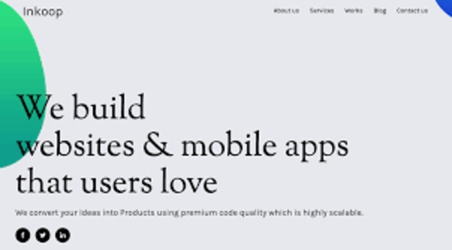 A great web design by Inkoop, Bengaluru, India: