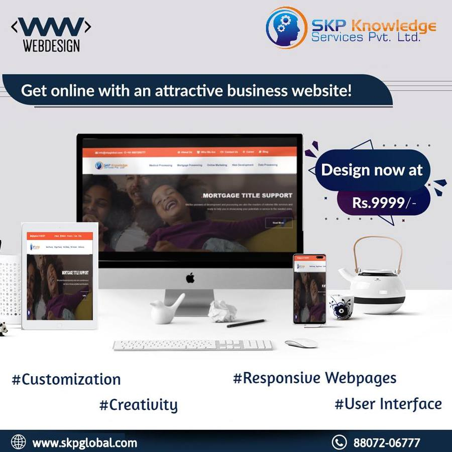 A great web design by SKP Knowledge Services Pvt Ltd, Chennai, India: Responsive Website, Marketing Website