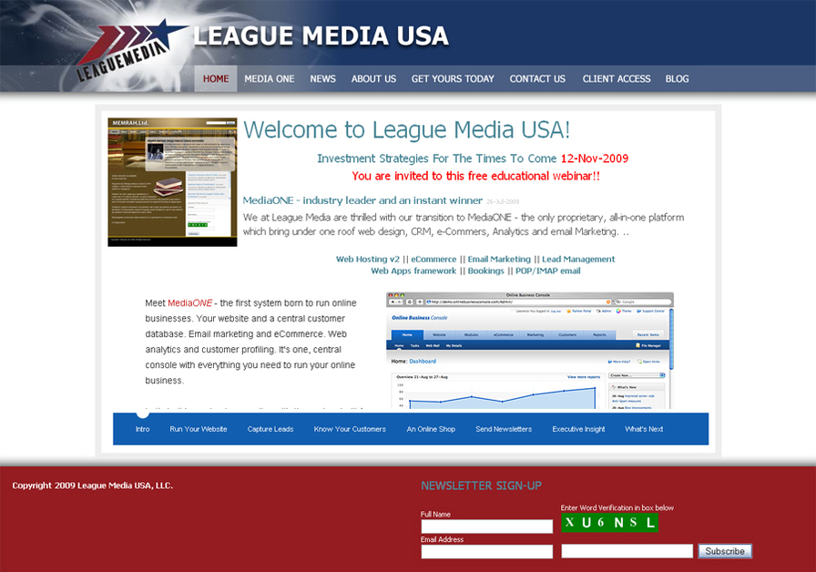 A great web design by League Media USA, Minneapolis, MN: