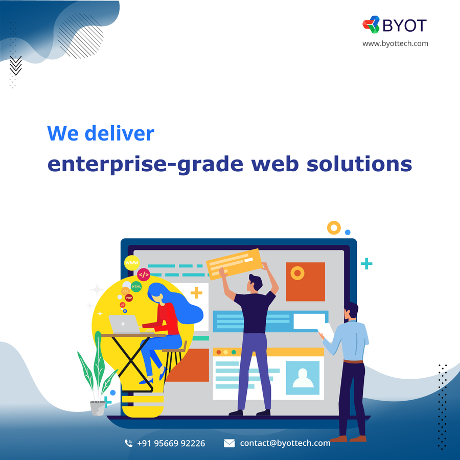 A great web design by BYOT Technologies, Coimbatore, India:
