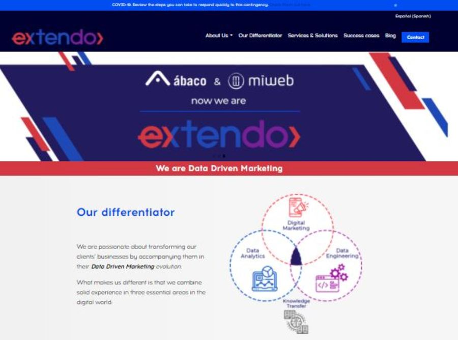 A great web design by Extendo, Mexico, Mexico: