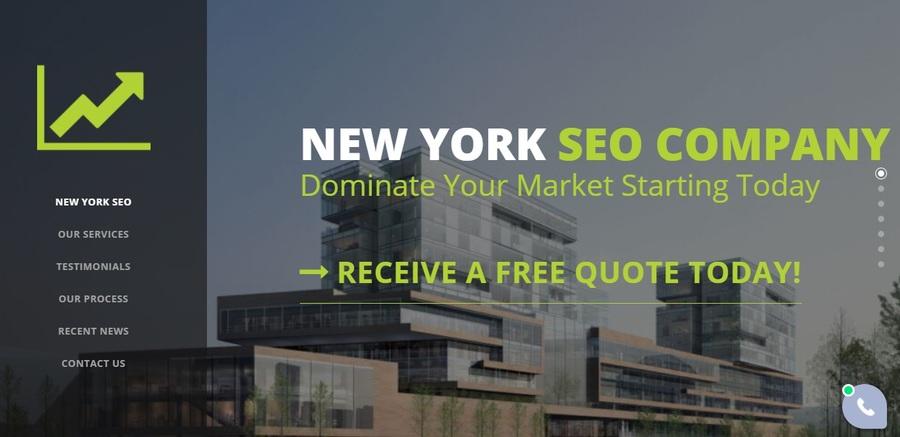 A great web design by New York SEO Company, New York, NY: