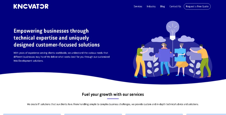 A great web design by Knovator Technologies, Surat, India: