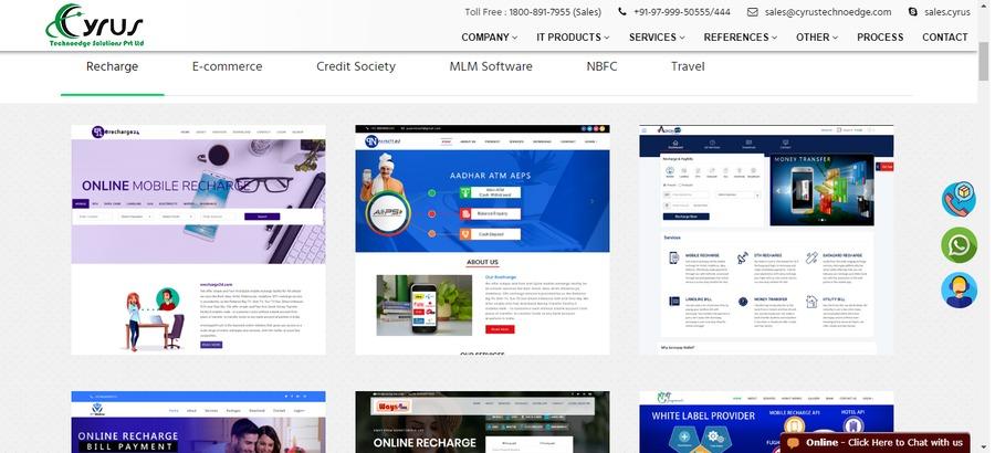 A great web design by Cyrus Technoedge, Jaipur, India:
