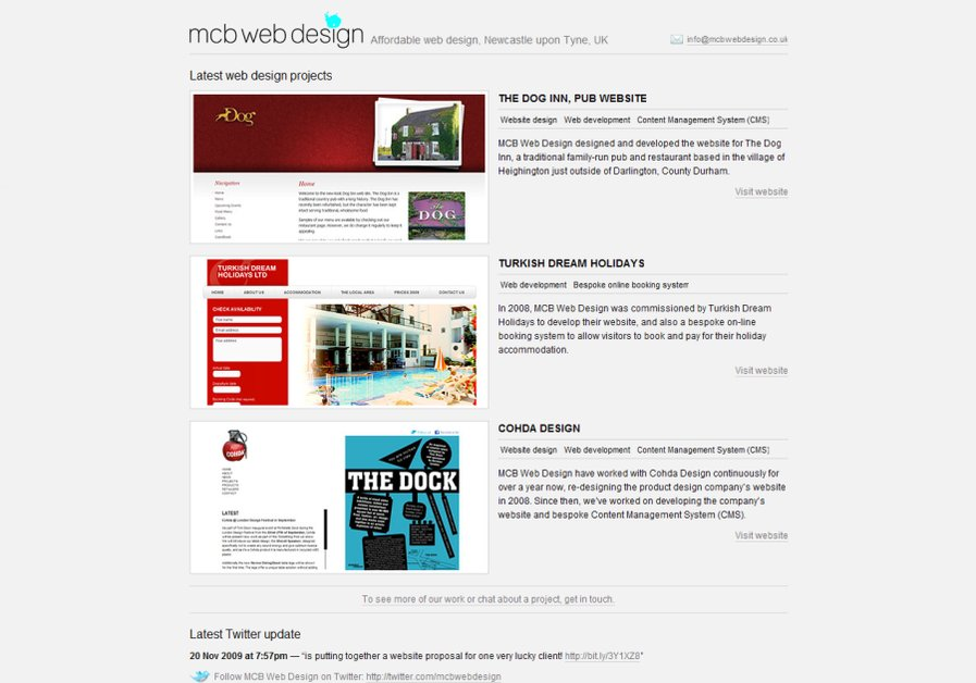 A great web design by MCB Web Design, Newcastle, United Kingdom: