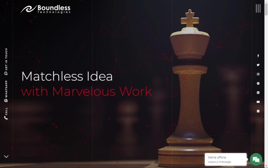 A great web design by Boundless Technologies, Karachi, Pakistan: