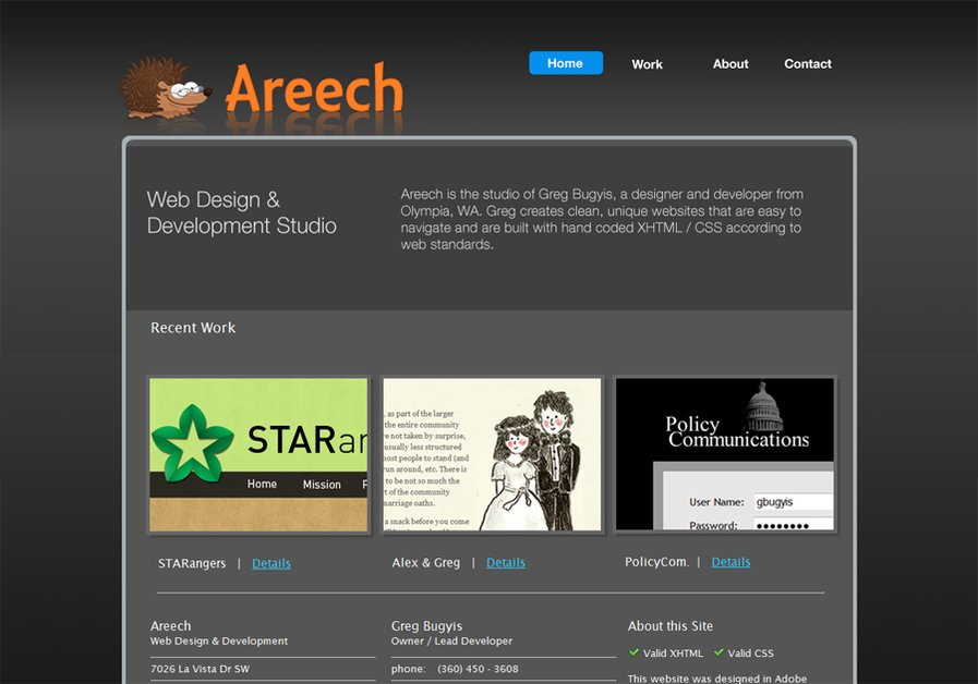 A great web design by Areech Web Design, Seattle, WA: