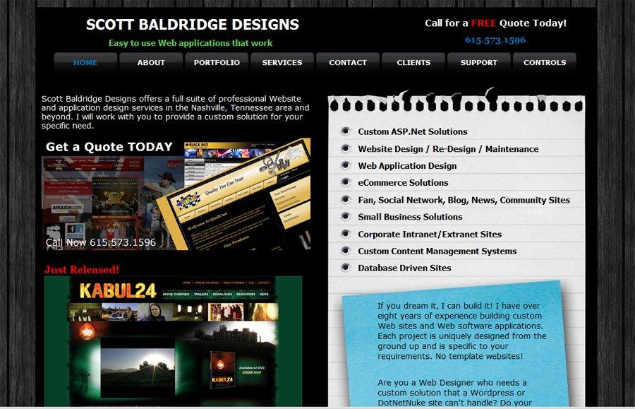 A great web design by Scott Baldridge Designs, Nashville, TN: