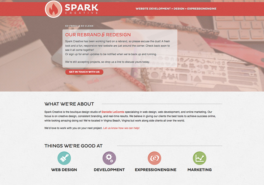 A great web design by Spark Creative, Virginia Beach, VA: