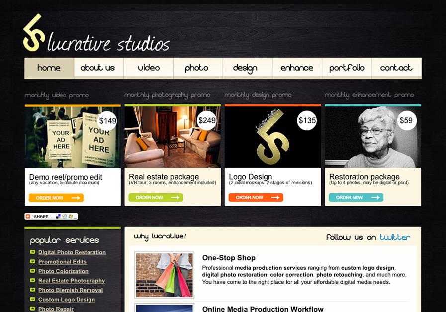 A great web design by Lucrative Studios, Toronto, Canada: