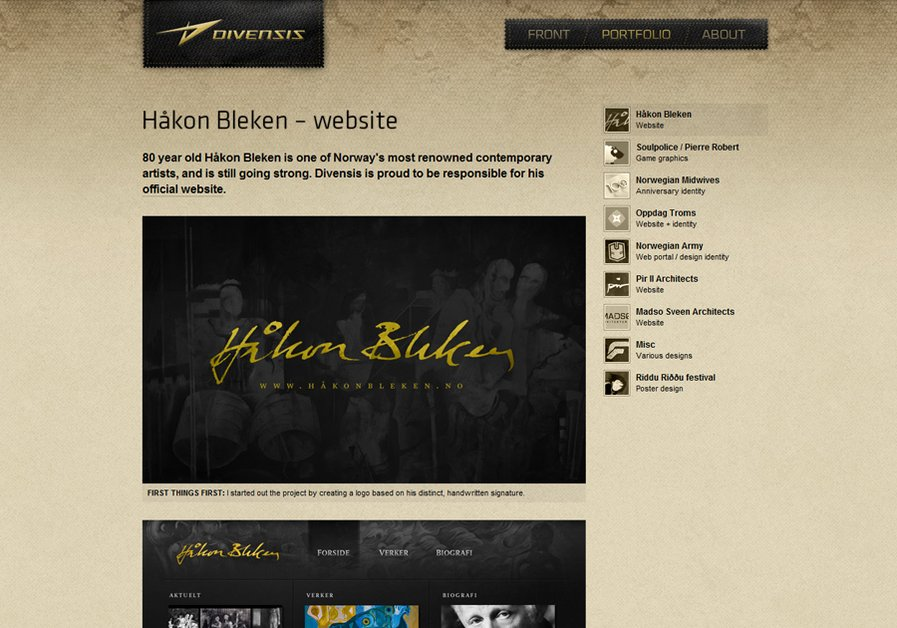 A great web design by Divensis Design, Trondheim, Norway: