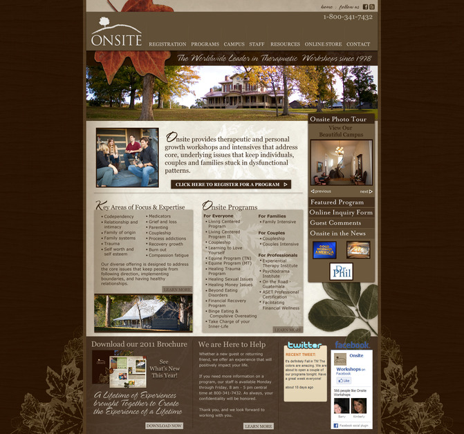 A great web design by La-La Designs, Nashville, TN: