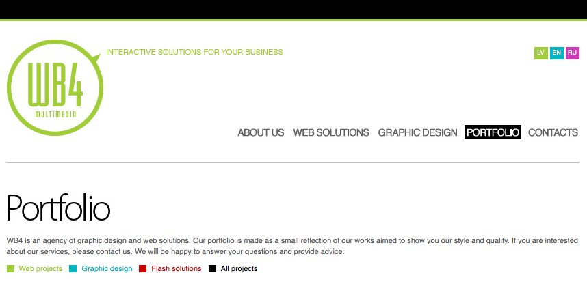 A great web design by WB4, Riga, Latvia: