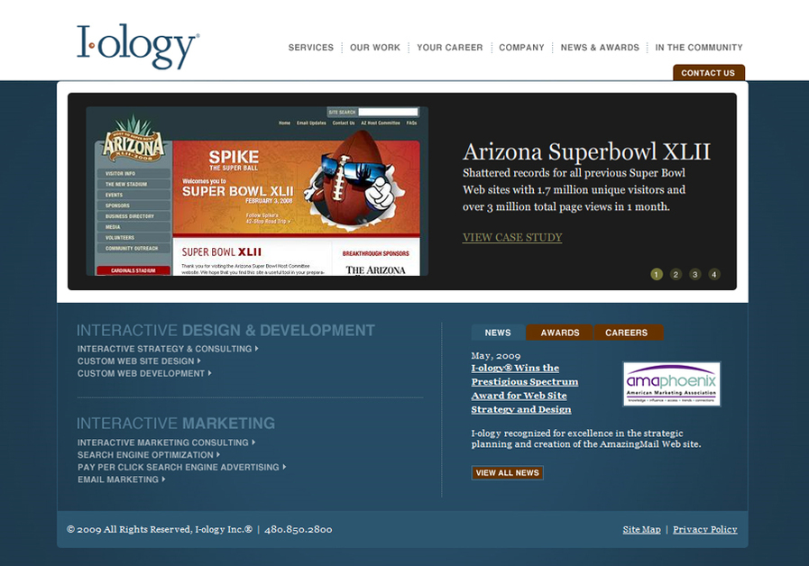 A great web design by I-ology, Scottsdale, AZ:
