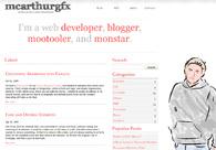 A great web design by McArthur GFX, Los Angeles, CA: