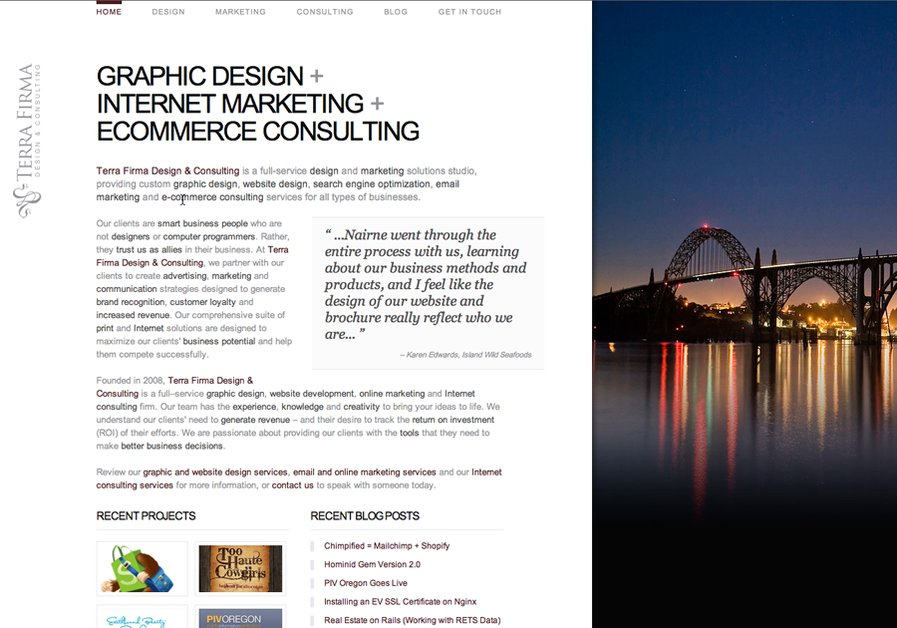 A great web design by Terra Firma Design & Consulting, Portland, OR: