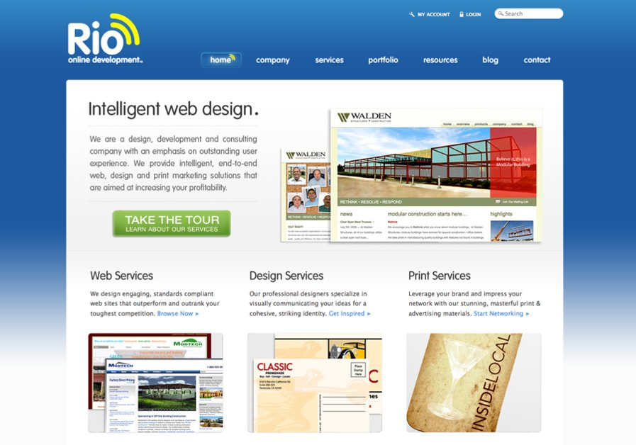 A great web design by Rio Online Development, Inc., San Diego, CA: