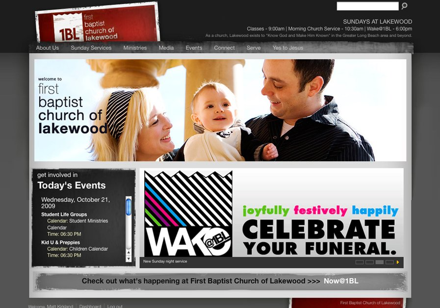 A great web design by City Gates - church websites, Los Angeles, CA: