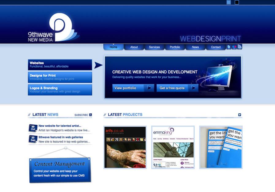 A great web design by 9thwave New Media, Bradford, United Kingdom: