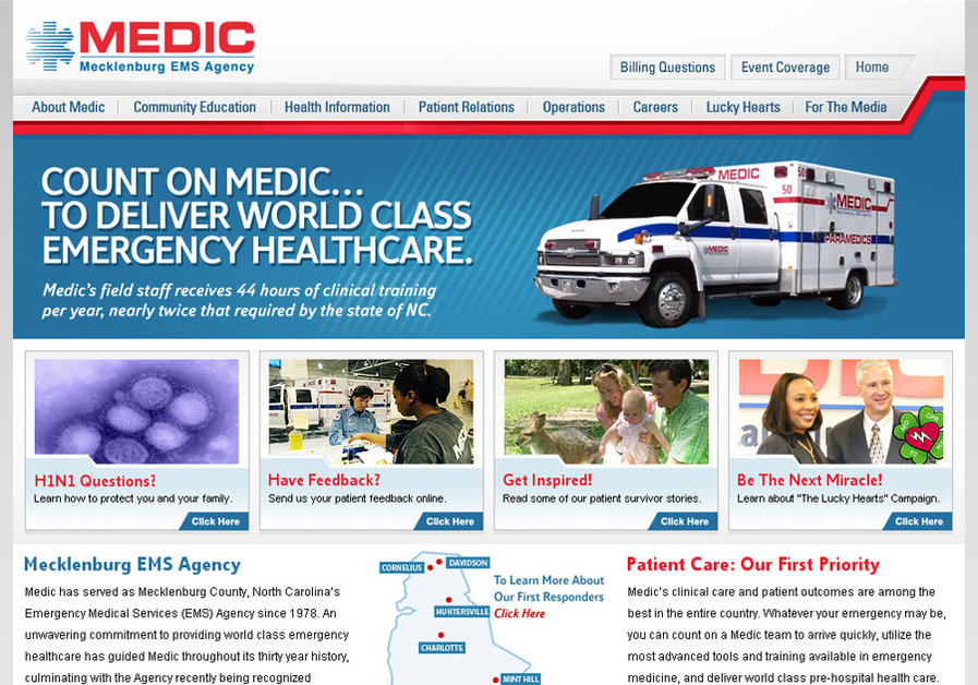 A great web design by Alter Imaging, Inc., Charlotte, NC: