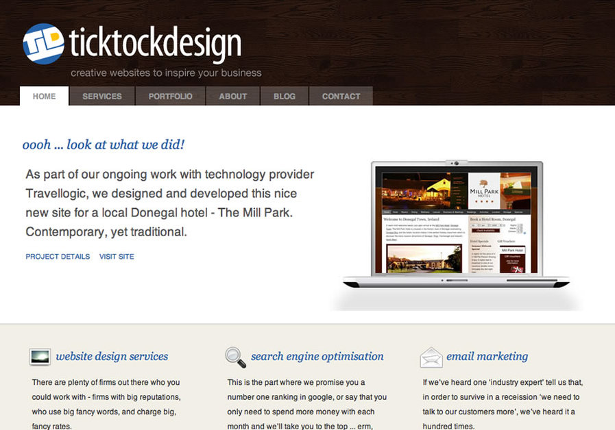 A great web design by TickTockDesign, Belfast, United Kingdom: