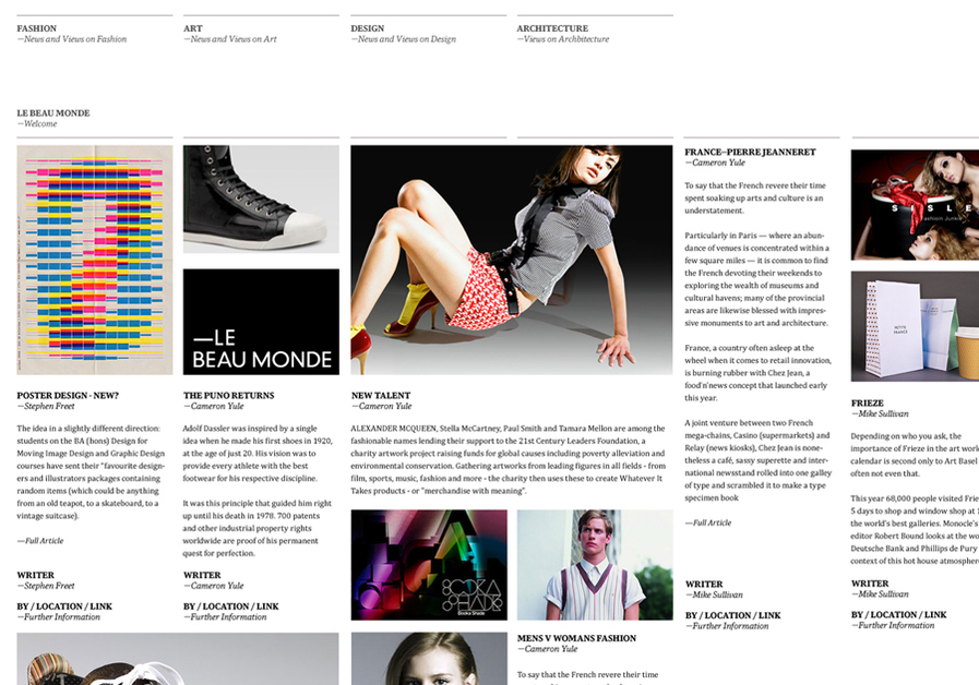 A great web design by Mister, Glasgow, United Kingdom:
