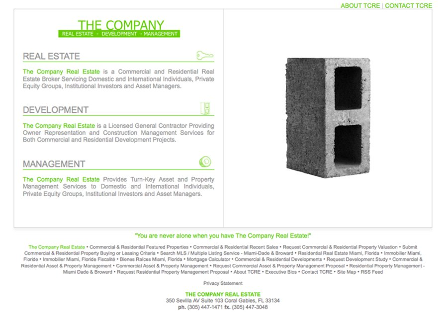 A great web design by Fuse Developments, Inc., Miami, FL: