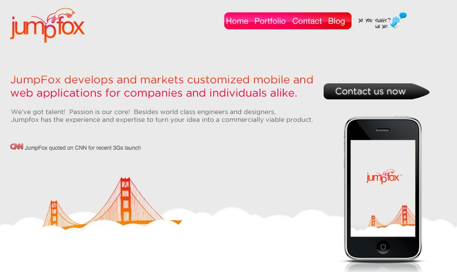 A great web design by JumpFox, LLC, San Francisco, CA: