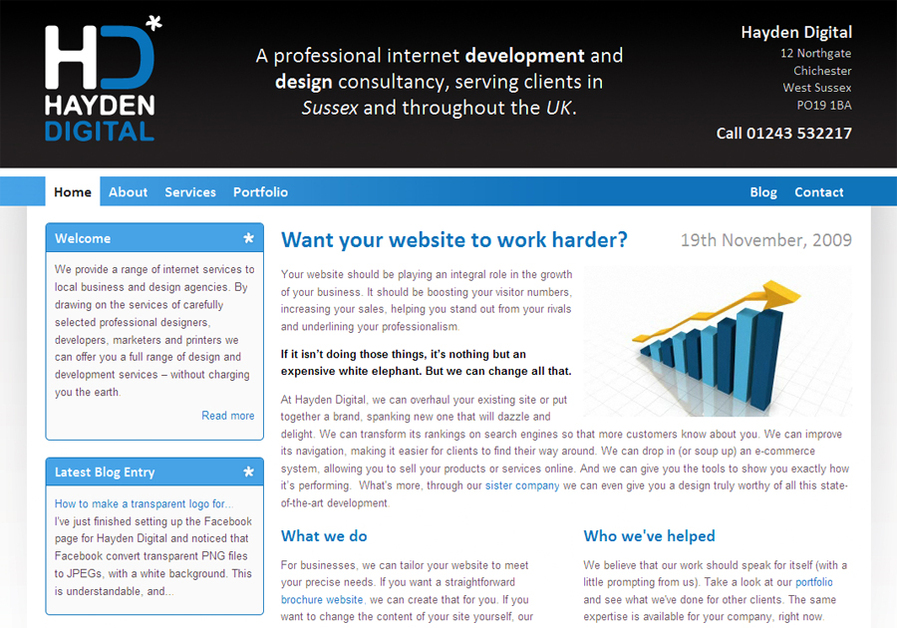 A great web design by Hayden Digital, Worthing, United Kingdom: