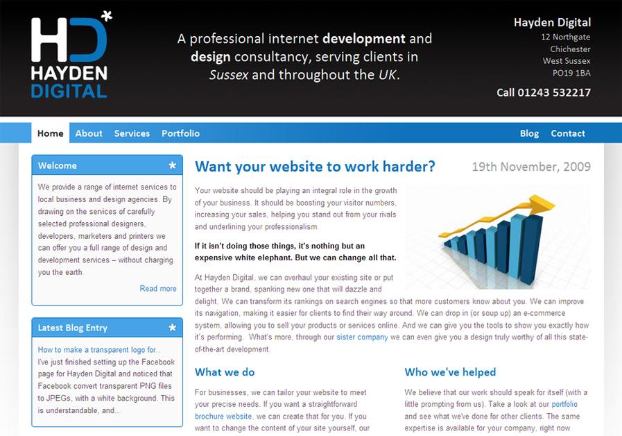 A great web design by Hayden Digital, Worthing, United Kingdom: