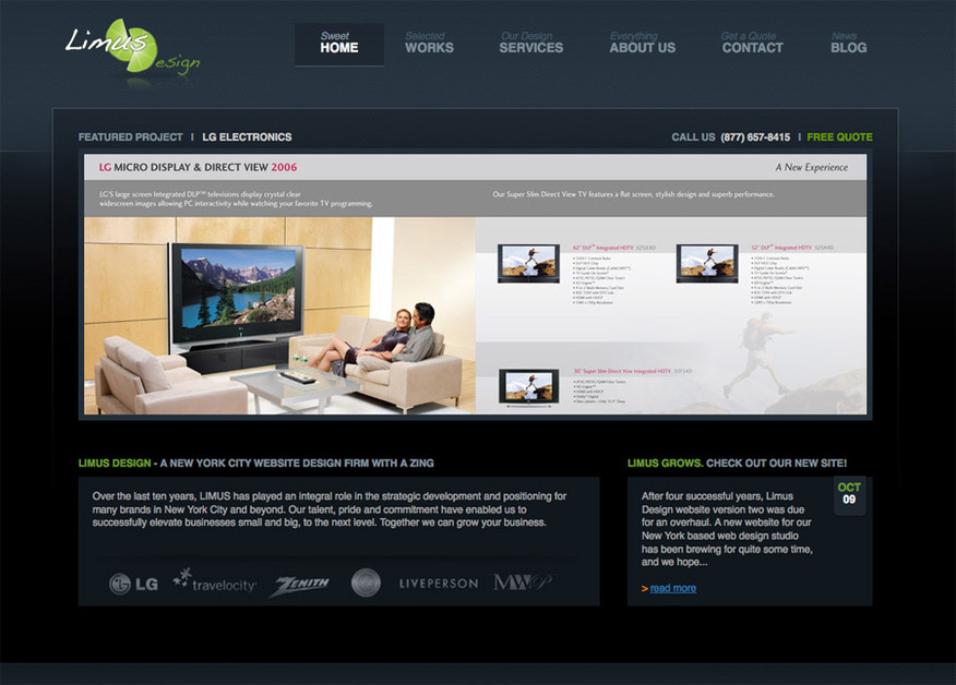 A great web design by Limus Design Inc., New York, NY: